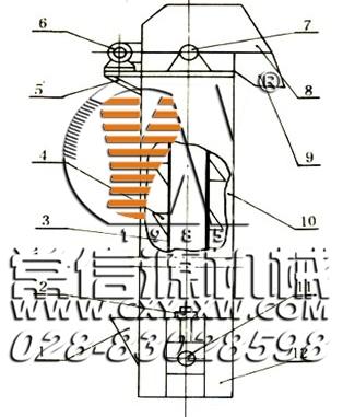 斗式提升机结构图-四川常信源机械厂
